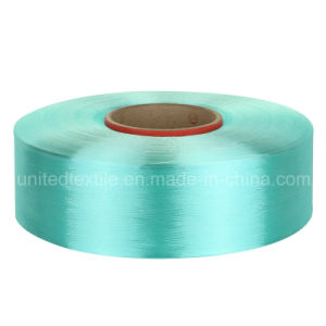 100% Polyester Dope-Dyed FDY Filament Yarn with 450d/144f Trilobal Bright pictures & photos