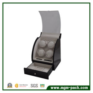 Standing Rotating Wooden 4 with LED Watch Winder pictures & photos