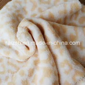 Leopard-Sided Coral Fleece, Plush Sleepwear Autumn and Winter Fabrics pictures & photos