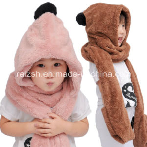 Plush Warm Autumn and Winter Hats Scarves Gloves for Children pictures & photos