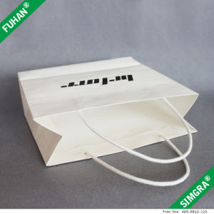 Embossed Logo White Paper Print Packing Bag for Shirt pictures & photos