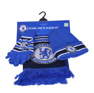 2017 Hot Sale Football Scarf, Warm Scarf&Glove&Hat, Football Set pictures & photos