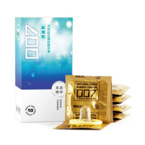 12PCS Feel Thin Loving Condom with Plant Extracts Jasmine Condom Latex Rubber Condom pictures & photos