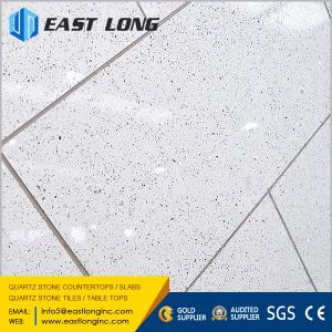 Cheap Glass Sparkling Quartz Tiles Polished Solid Surface for Home Design /Engineered pictures & photos
