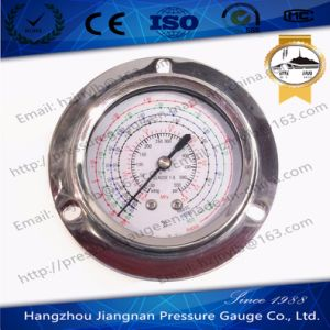 63mm 2.5′′ 550psi Ss Integrated Refrigeration Pressure Gauge with Front Flange-R407c/R134A/R22/R404A pictures & photos