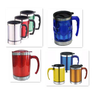Promotional S. S Outer-Plastic Inner Double Wall Beer Mug/Sublimation Mug/Mug Cup pictures & photos