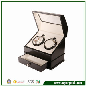 High Quality Black Automatic Wooden Watch Winder pictures & photos