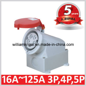 IP44 16A 3p+N+E 400V Industrial Surface Mounting Socket Outlet pictures & photos
