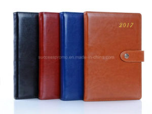 2017 Weekly Planner PU Leather Covers Diary with Customized Logo pictures & photos