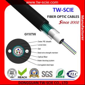 GYXTW Outdoor 9/125um Sm Fiber Optic Armoured Fiber Cable pictures & photos