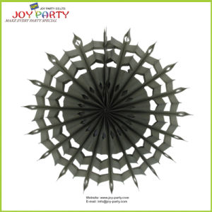 Gray Hanging Honeycomb Snowflake Paper Fans