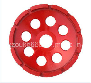 Cup Shaped Diamond Single Row Cup Grinding Wheel pictures & photos