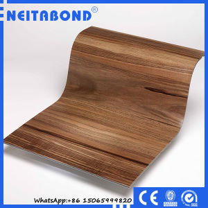 Linyi Factory 3mm Wood Texture Aluminum Composite Panel for Interior Wall Decoration pictures & photos