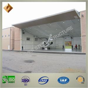 Economic Prefab Steel Structure Aircraft Hangar with Folding Door