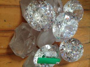 Big Size Brilliant 100mm Round Cubic Zirconia Gemstone Stock 5PC pictures & photos
