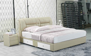 New Leather Bed, China Bed, Bedroom Furniture (J333) pictures & photos