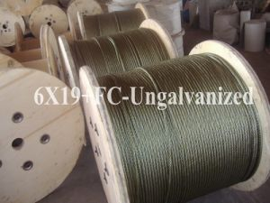Ungalvanized Steel Wire Rope (6X19+FC) pictures & photos