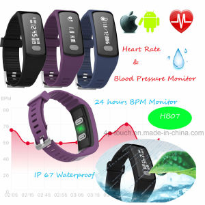 Hot IP67 Waterproof Smart Bracelet with 24 Hours Bp Monitor pictures & photos