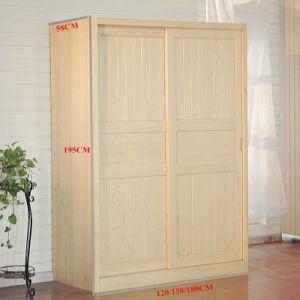 Sliding Door Solid Wood Wardrobe with Two Doors (M-X1080) pictures & photos