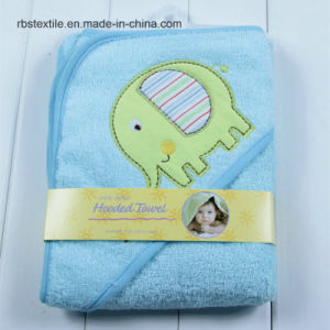100% Cotton Baby Hooded Bath Towel Poncho pictures & photos