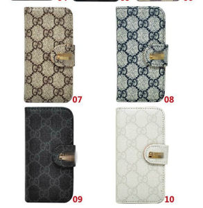 Hot Selling Wallet Case for iPhone 5s 4s/ Samsung S4 S5 Note 2 3 with Luxury Brand Logo