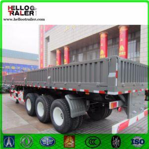 Tri-Axle Sidewall Cargo Trailer/ 60 Ton Cargo Box Semi Trailer pictures & photos