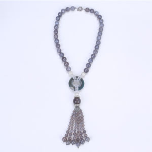 Ethnic Pretty Chunky Beads Necklace with Tassel pictures & photos