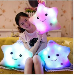 Colorful Lucky Star LED Pillow /Shining Flashing Colorful Shining LED Pillow LED Glow Pillow From China pictures & photos