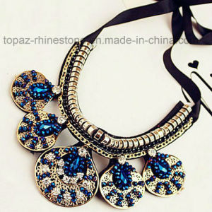 2016 Custom Jewelry Rhinestone Necklace, Fashion Choker Statement Necklace (TP-094 sapphire) pictures & photos