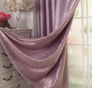 Suede Double-Faced Jacquard Cation Curtain Roman Curtain (MM-136) pictures & photos