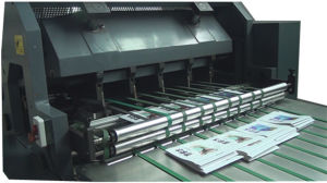 Fully Automatic Primary School Notebook Student Diary Exercise Book Saddle Stitching and Flexo Printing Production Line pictures & photos