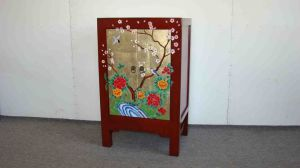 Antique Painted Cabinet (W-168)