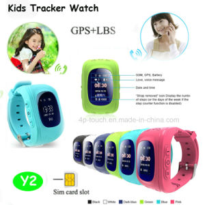 Hot Selling 2g GSM SIM Card GPS Kids Watch Tracker with Sos Call pictures & photos