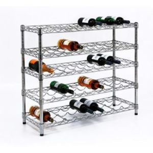 Adjustable 5 Tiers Steel Wine Bottle Display Rack (WR903590A5C) pictures & photos