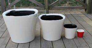 Plastic Self-Watering Flower Pot (FO-1304) pictures & photos