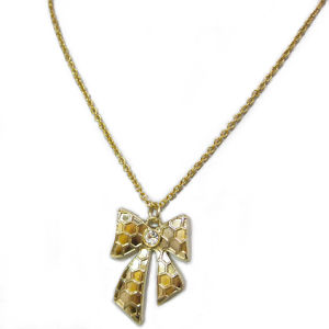 Fashion Jewelry Metal Tie Pendant Necklace (HNK-11813)