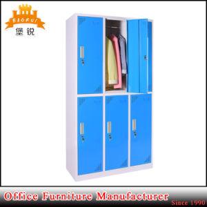China Manufacturer Supply Metal 6 Door Lockers pictures & photos