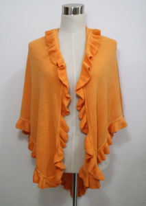 Lady Fashion Triangle Acrylic Pashmina Knitted Ruffle Shawl (YKY4418) pictures & photos
