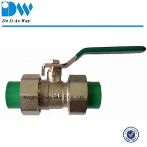 Pn25 Union Brass PPR Ball Valve with Level Handle pictures & photos