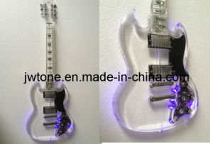 Jw-Tt053 Acrylic Body, LED Light on, Special Design Sg Electric Guitar pictures & photos