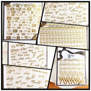 English Letter Shiny Gold Color Nail 3D Sticker Nail Art Decoration
