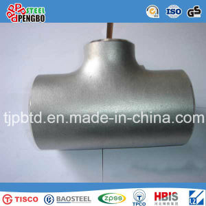 Sanitary Ss304 Stainless Steel Reducing Tee with Weld End pictures & photos