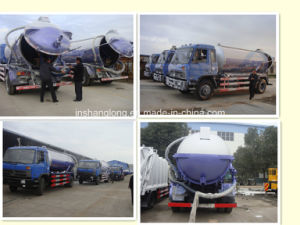 Dongfeng 10 Ton 10000L Vacuum Sewage Suction Truck pictures & photos