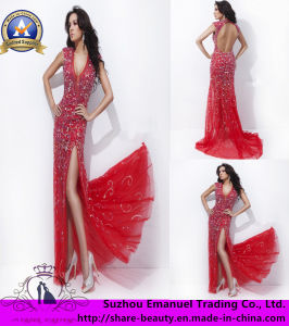 2014 Brand New Column Crystal Applique Chiffon Prom Dresses Gowns (AK201)