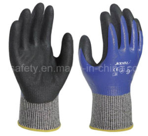 Blue Safety Work Glove with Nitrile Dopping (ND6516) pictures & photos