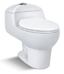 Popular New Style White Ceramic Siphonic One-Piece Toilet pictures & photos