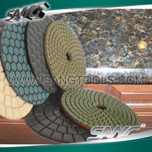 Wet and Dry Diamond Polishing Pad (SG-086) pictures & photos