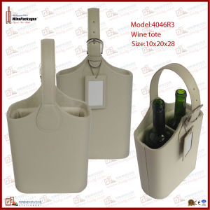Two Bottles Wine Basket with Tag (4046R3) pictures & photos