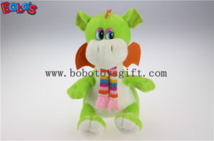 100% Polyester Fabric Green Cuddly Plush Baby Dinosaur Animal Toy with Scarf for Kids Bos1198 pictures & photos