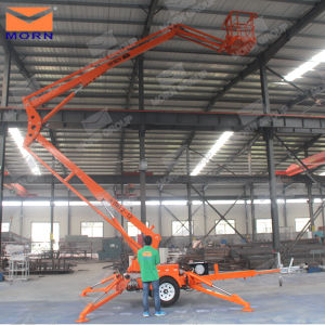 14m Tow Behind Ewp Aerial Work Lift Platform for Sign Installation pictures & photos
